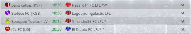 Points infos matchs IE et IS saison81 Lfl20011