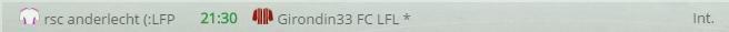 Points infos matchs IE et IS saison81 Lfl20012