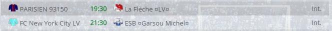 Points infos matchs IE et IS saison81 Lv20011