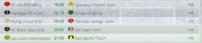 Points infos matchs IE et IS saison81 Lv20013