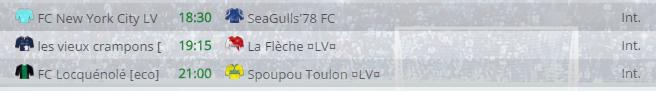 Points infos matchs IE et IS saison81 Lv20016