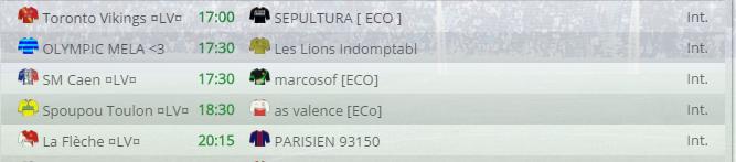 Points infos matchs IE et IS saison81 Lv300010