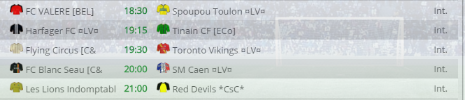 Points infos matchs IE et IS saison81 Vbl20012