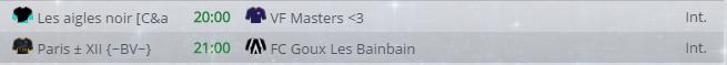 Points infos matchs IE et IS saison81 Vbl20014