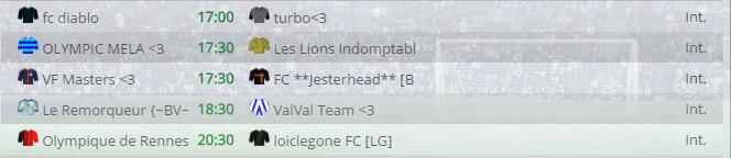 Points infos matchs IE et IS saison81 Vbl30010