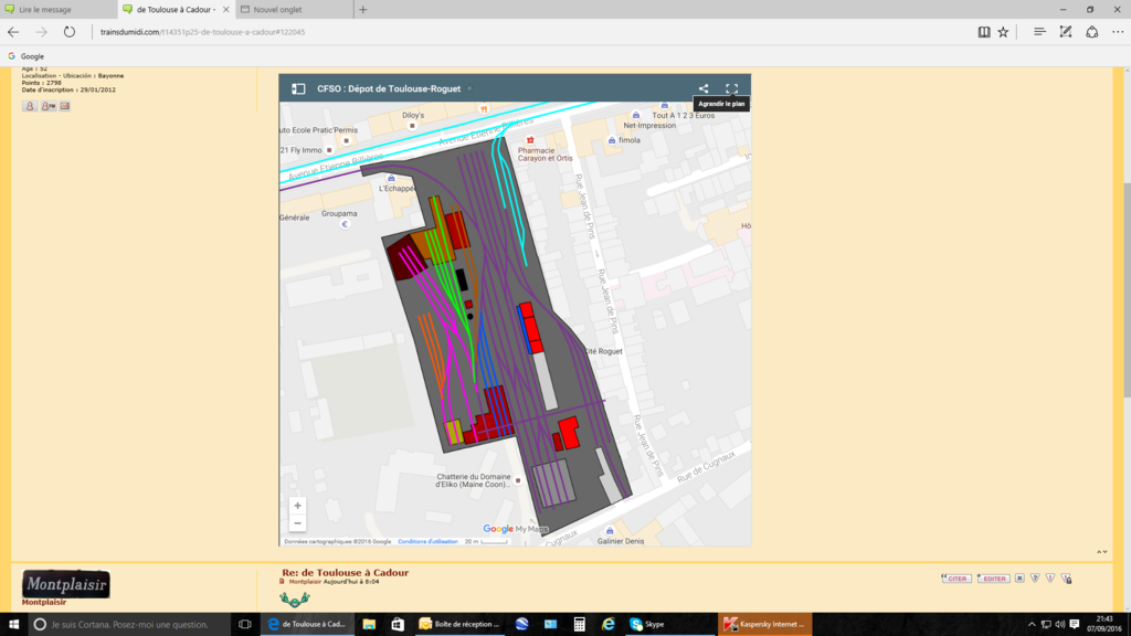 Comment récupérer un fichier KML issu des cartes proposées sur le site : Captur11