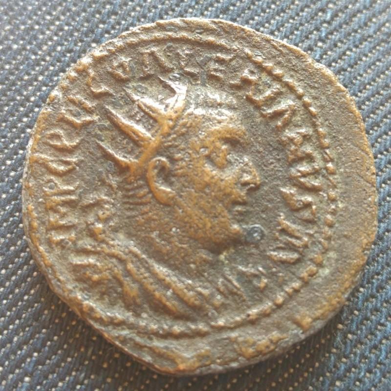 Romaine à identifier. Dupondius de Valerien ?  2016-111