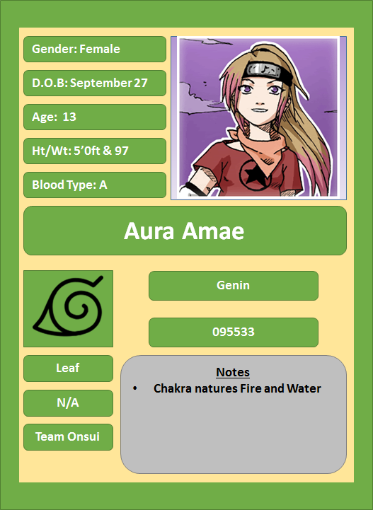 Hidden Leaf Village Characters (Genin) Aura10