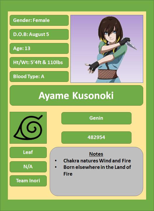 Hidden Leaf Village Characters (Genin) Kusono11