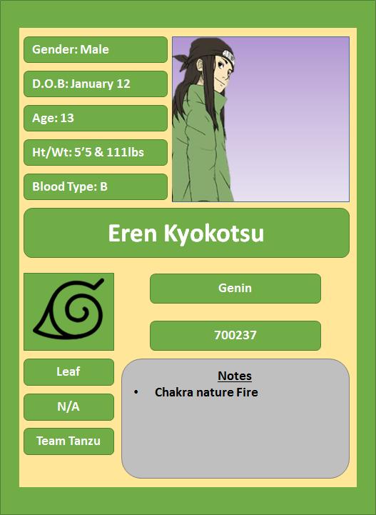 Hidden Leaf Village Characters (Genin) Kyokot11