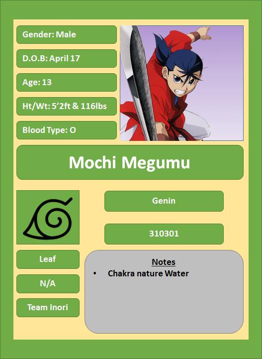 Hidden Leaf Village Characters (Genin) Megumu11