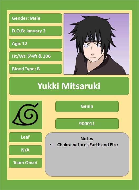 Hidden Leaf Village Characters (Genin) Mitsar10