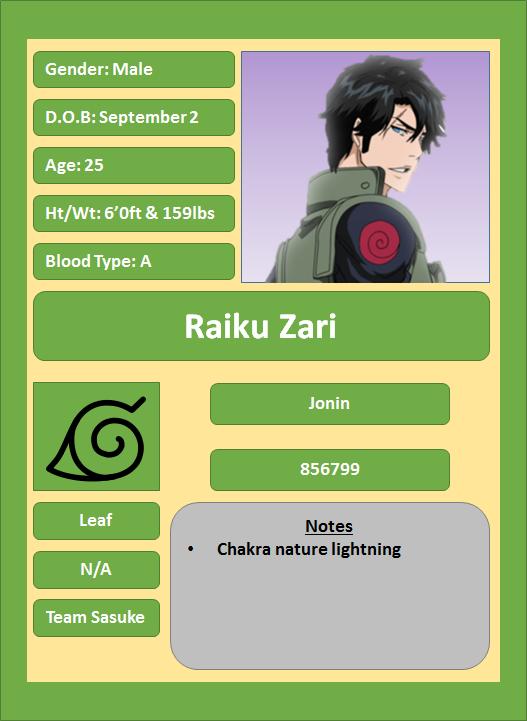 Hidden Leaf Village Characters (Jonin and Kage) Raiku_10