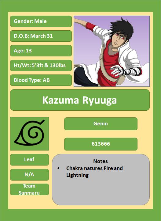 Hidden Leaf Village Characters (Genin) Ryuuga13
