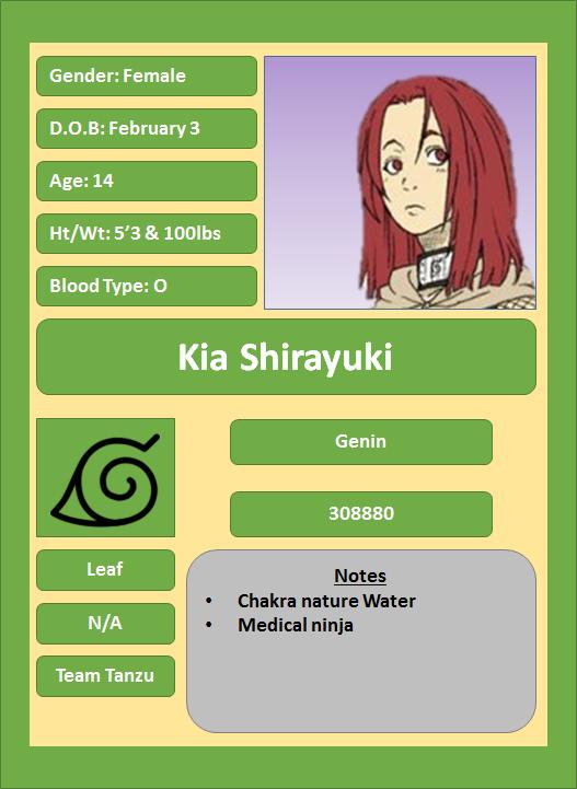 Hidden Leaf Village Characters (Genin) Shiray11