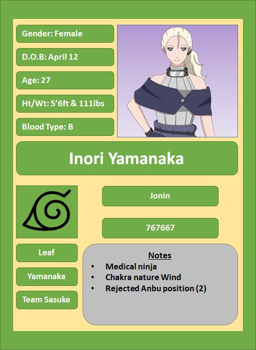 Hidden Leaf Village Characters (Jonin and Kage) Yamana11