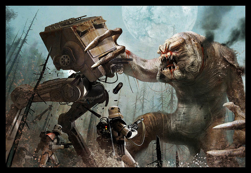 AT-ST VS Rancor 110