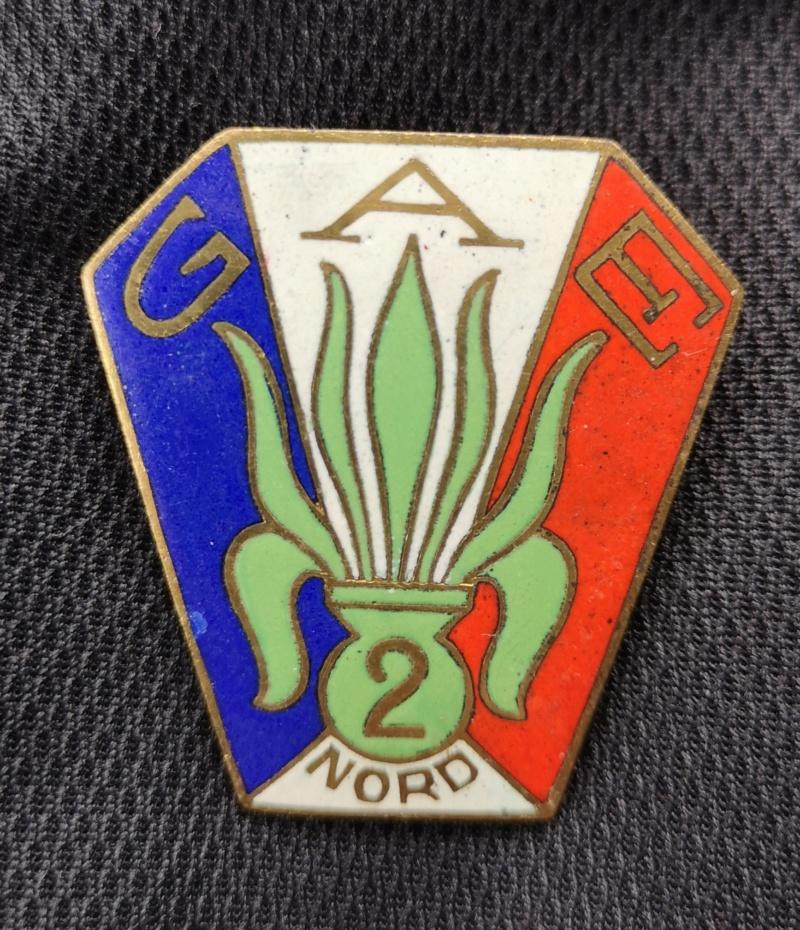 Insigne du Groupe Auxiliaire Étrangers n° 2 Nord Img_2032