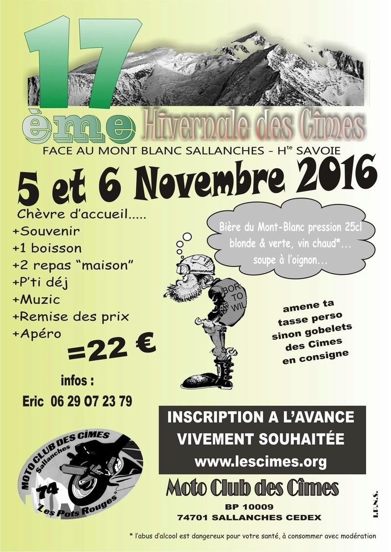 17ème hivernale des Cîmes 5 & 6 Novembre 2016 Affich10