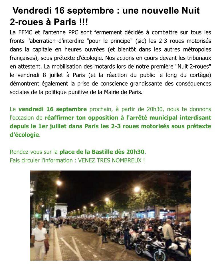 """16-09-16: 2ème """"Nuit 2 roues"""" sur Paris 38323710"""