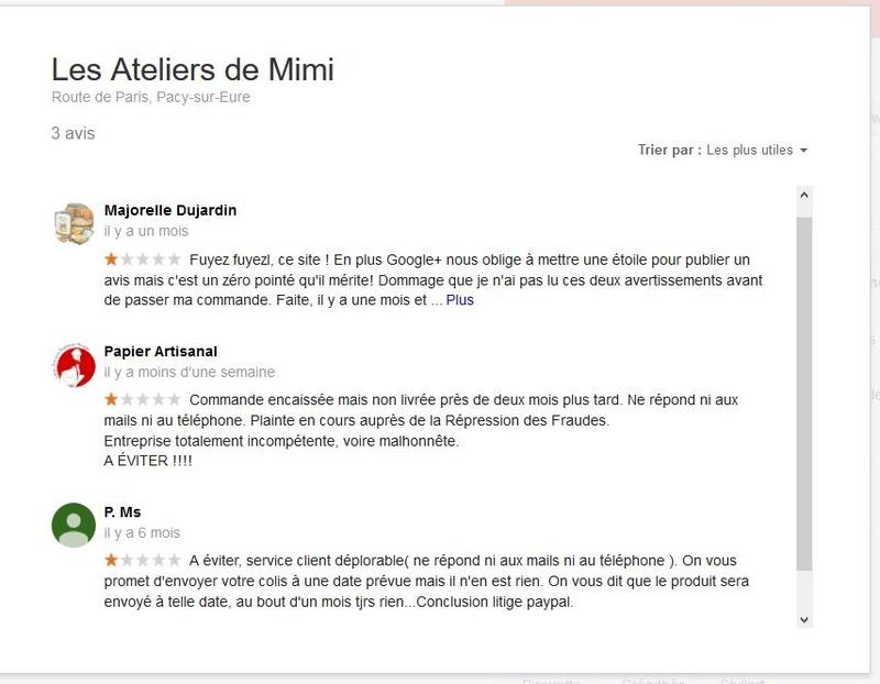RECHERCHE témoignages ex-clients Atelier Mimi pour action en justice Captur12