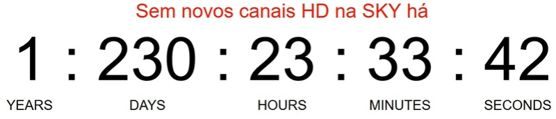 Sobre o Contador de dias sem novos canais na SKY Screen10