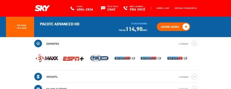 Esporte Interativo entrará na SKY Screen11