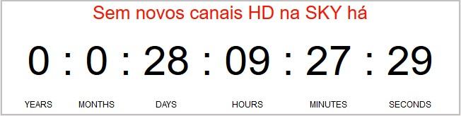 Sobre o Contador de dias sem novos canais na SKY Screen12