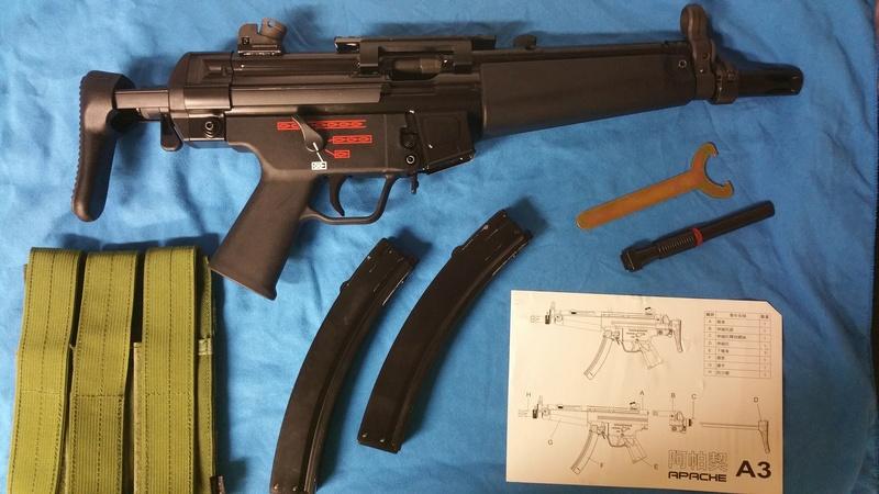 Vente MP5 APACHE WE A3 GBBR 20160911
