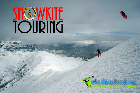 Snowkite Touring , quelques randos rassemblées par notre Laurent Hemmard national Randon11