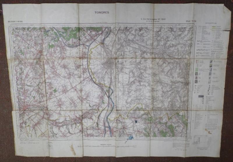 Estimation d'une carte Allemande en occurence région de Tongresn datée 1941 Heupta12