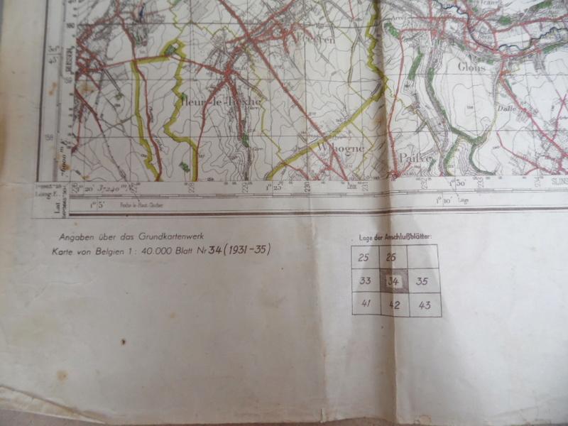Estimation d'une carte Allemande en occurence région de Tongresn datée 1941 Heupta14