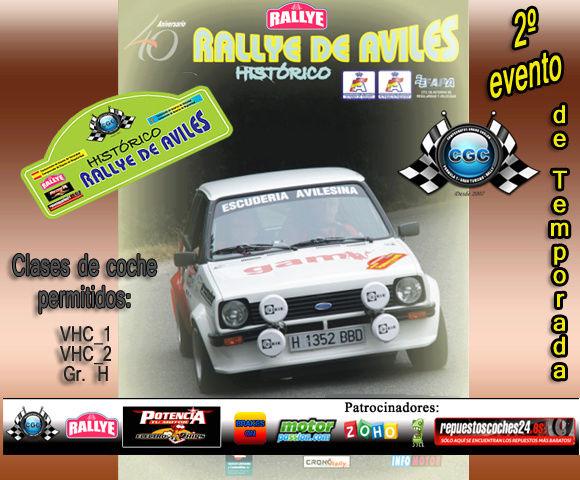 2º evento de Temporada Rally de Áviles Histórico RBR 2016 Log_ra10