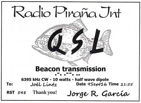 eQSL Radio Pirana BEACON Beacon10