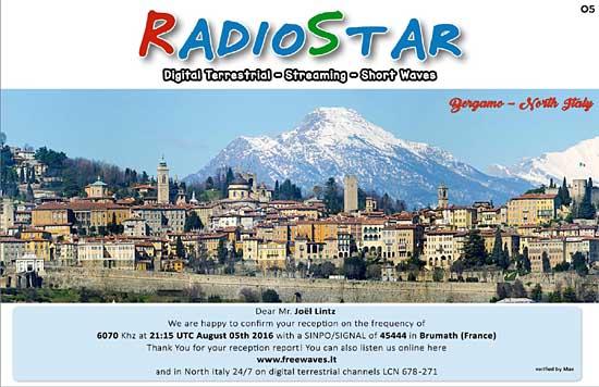 eQSL de RadioSTAR Radios10