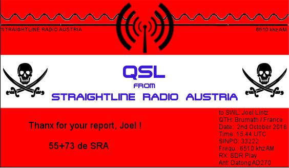eQSL de Straightline Radio Straig10