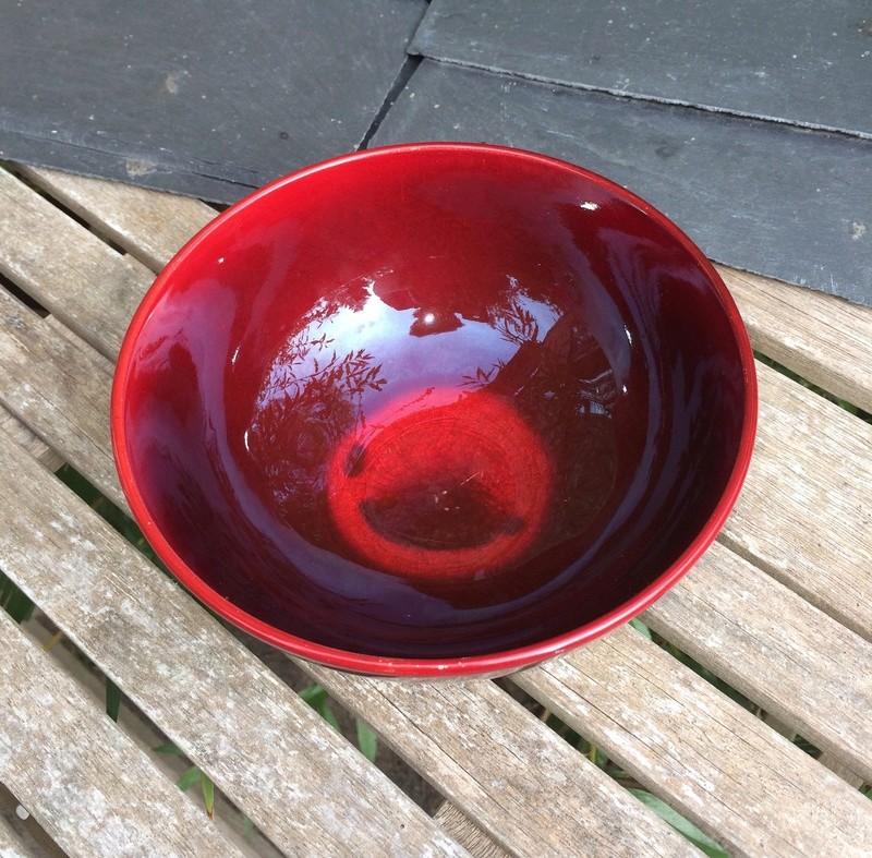 Flambé bowl, unmarked - possibly Bernard Moore Image245