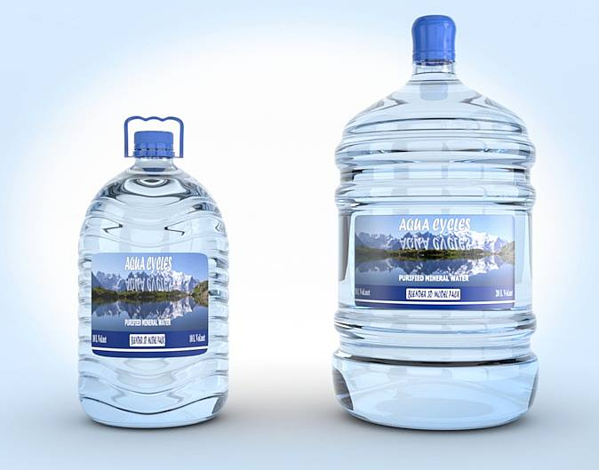 Mineral water 3D packshot in cycles for 1500 14721610