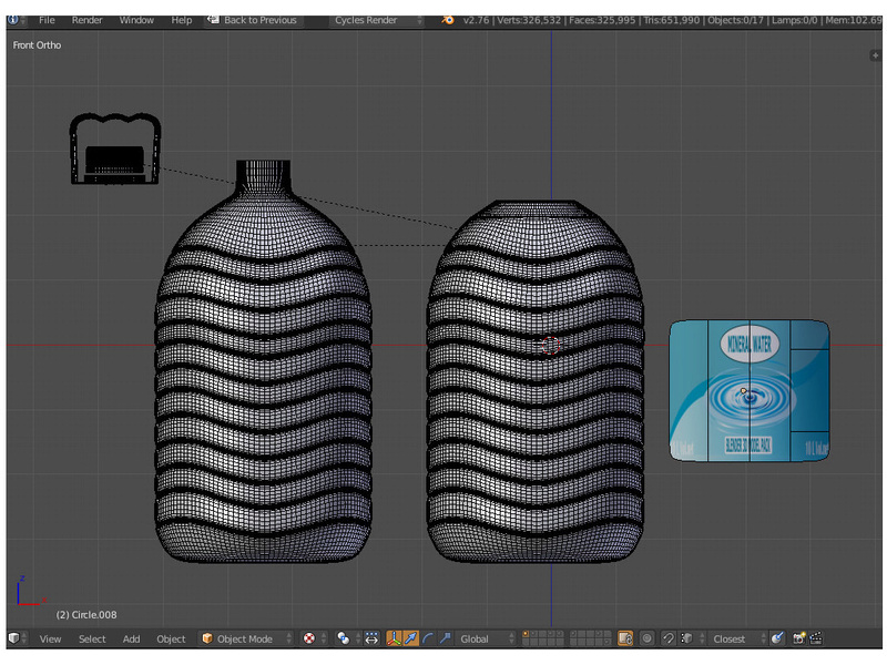Mineral water 3D packshot in cycles for 1500 St211