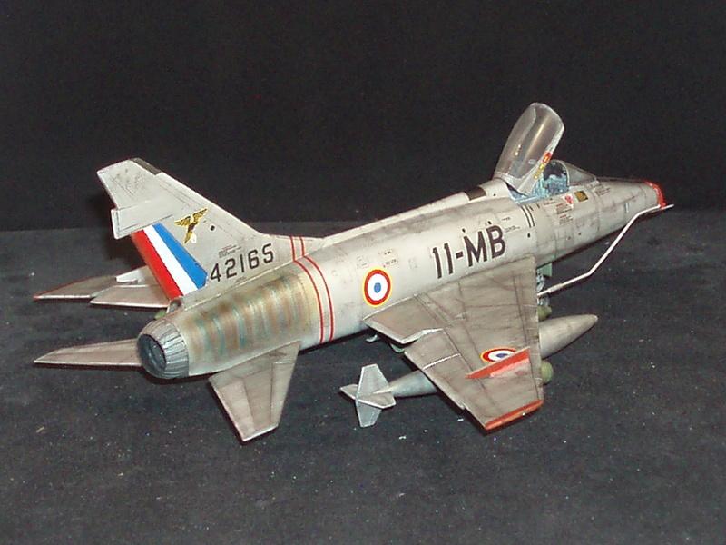 North American F100-D  ESCI 1/48 P1010120