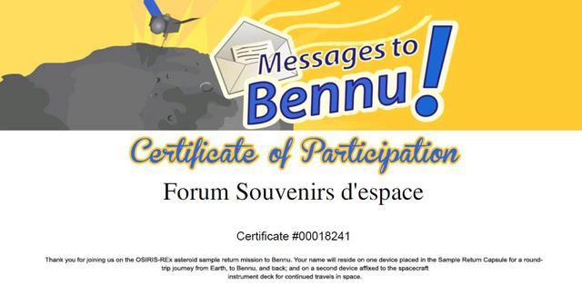 Envoyez votre nom vers l'astéroïde Bennu grâce à la sonde OSIRIS-REx / Départ septembre 2016 Bennu010