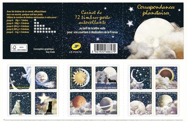 [Philatélie] Correspondances planétaires / Emission d'un carnet tout en poésie ''spatiale'' - 3 octobre 2016 Corres10