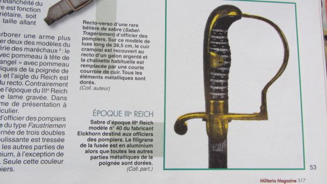 Sabre d'apparat  Officiel  / Fonctionnaire de Thuringe   Img_5717
