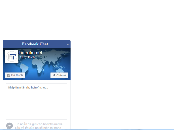 open - close chat fanpage in website Screen11