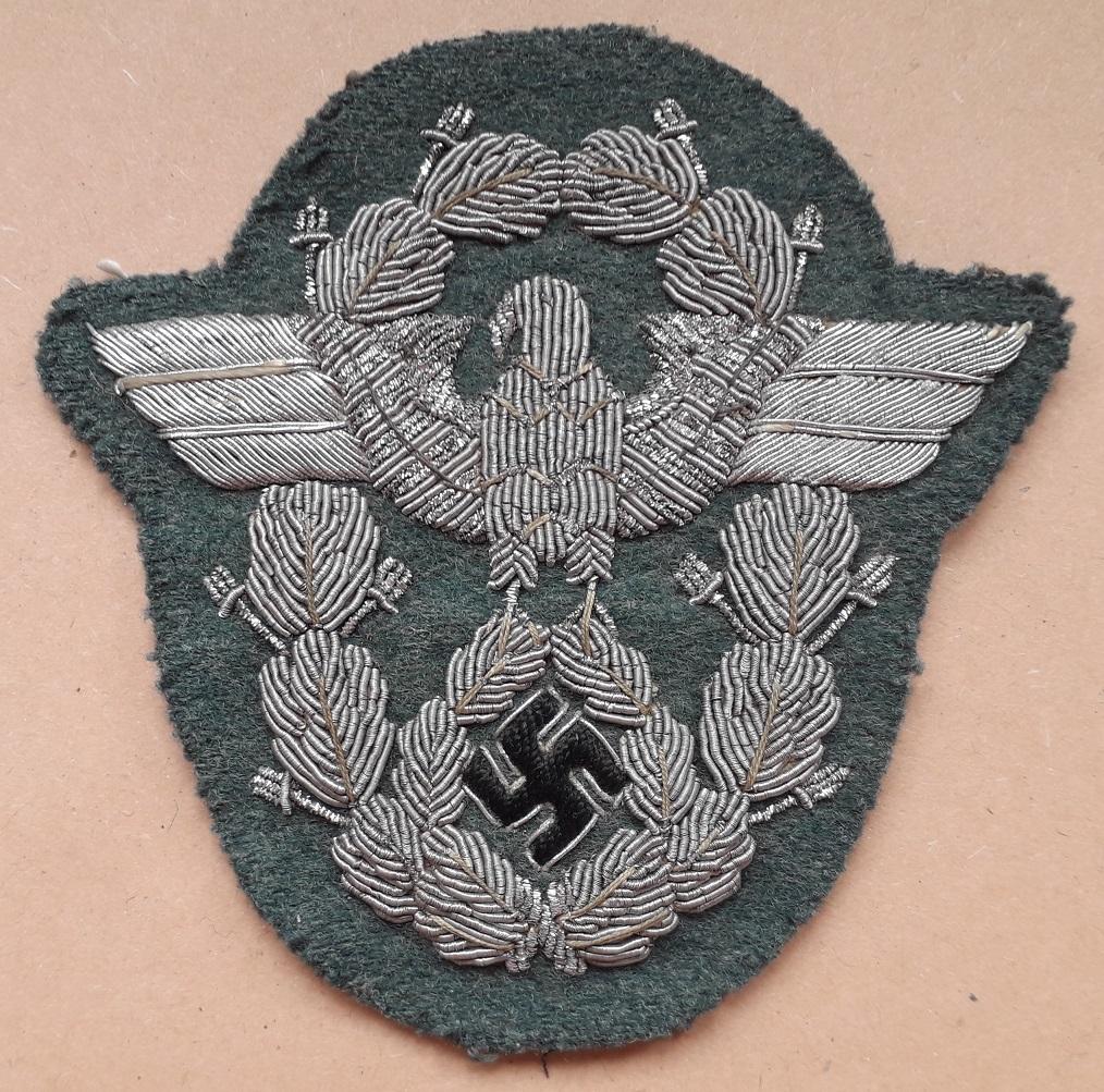 Insigne de bras Officier Polizei en canetille: A12