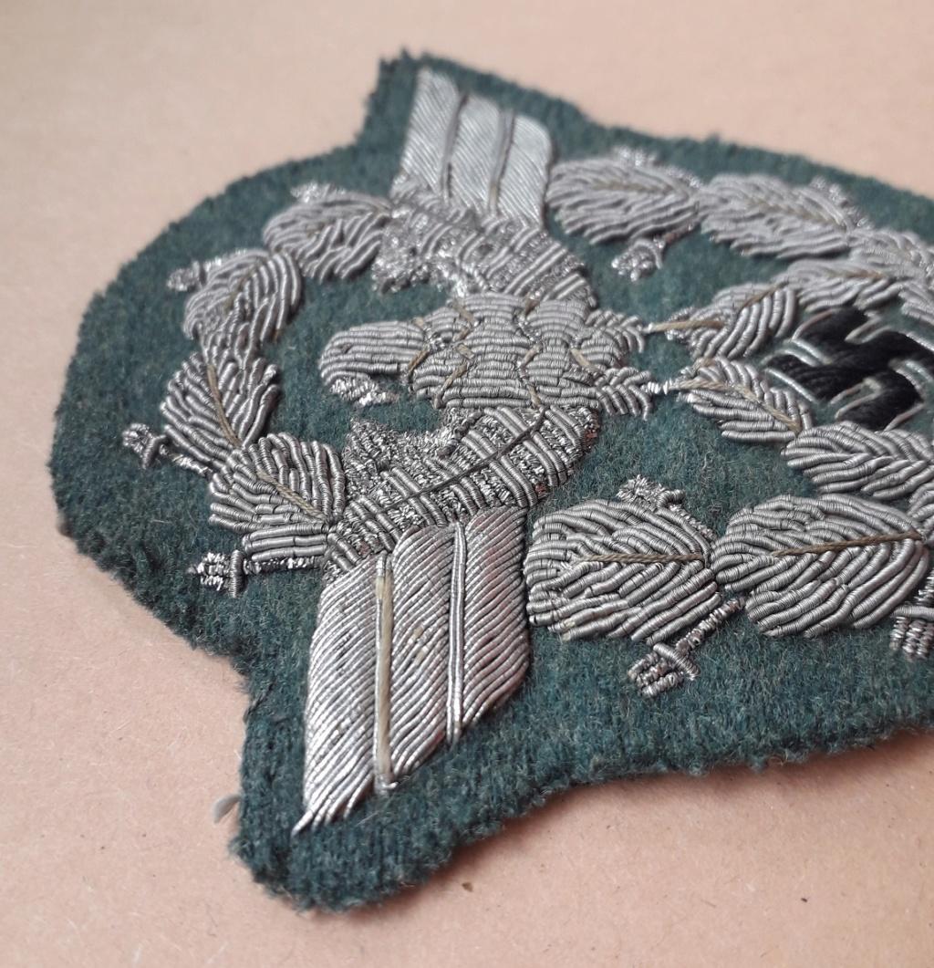 Insigne de bras Officier Polizei en canetille: C11