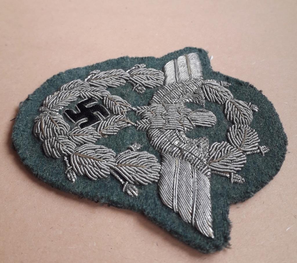 Insigne de bras Officier Polizei en canetille: D11