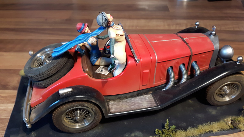 MERCEDES-BENZ SSK ROADSTER 1928 : (  DIORAMA 1/18 ) 20161012