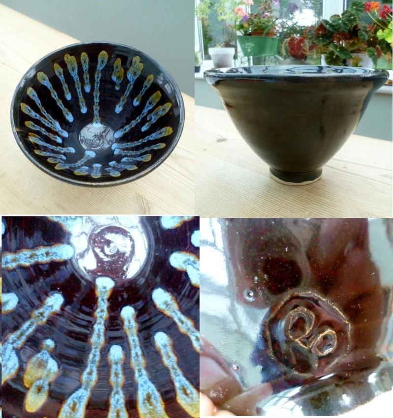 Lotus Pottery style vase - RP mark Rp10