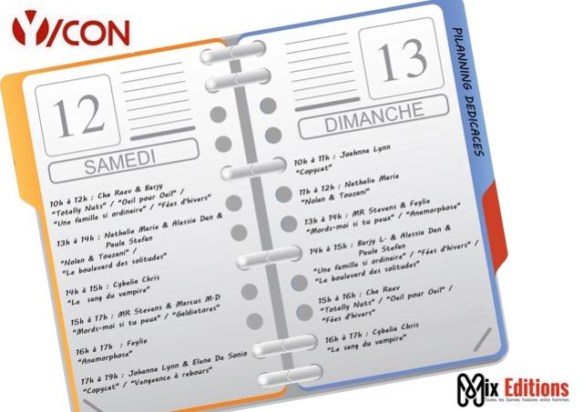Mix Editions à la Ycon et à Mons livres Ycon10